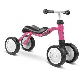 """Детско колело Puky - Wutsch Специалната ос на предния мост  позволява ограничено странично наклоняване, което подпомага усъвършенстването на баланса и координацията на движенията на детето. """"Wutsch"""" е подходящото детско колело, за използване в етапа, предхождащ забавлението с велосипед без педали."""