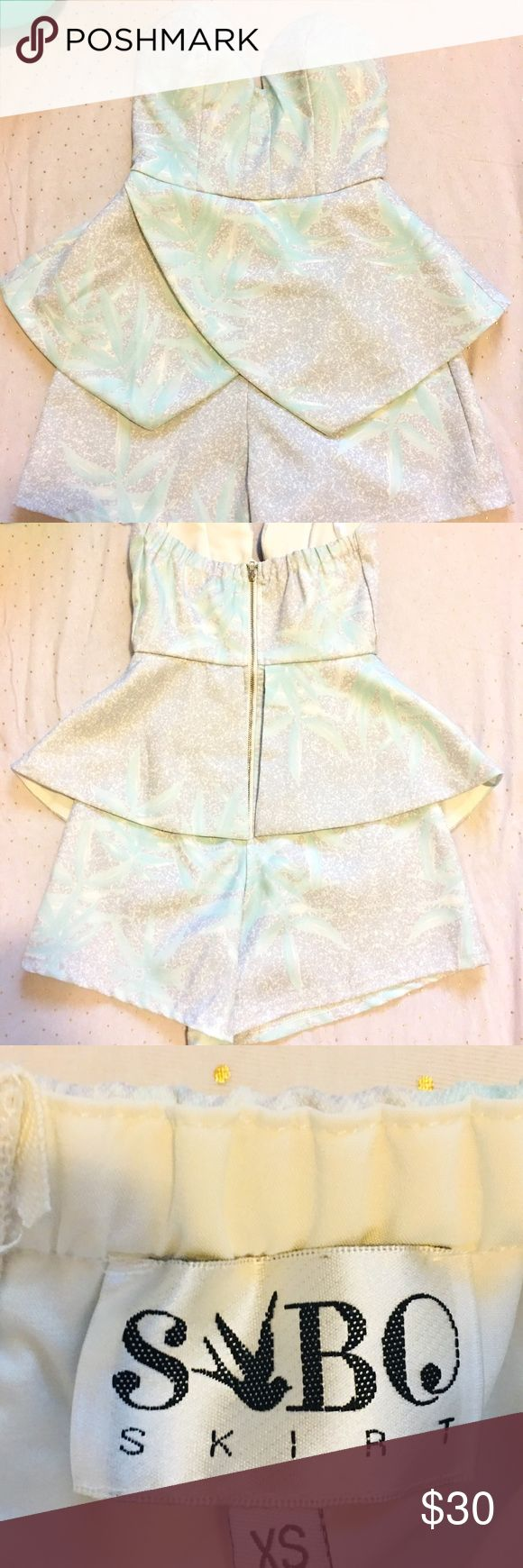 Women's Playsuit by Sabo Skirt Women's Playsuit by Sabo Skirt • size: xs  • Never been worn. Brand new without tag •color: multi-colour  •Brand: Sabo Skirt  If you have more questions please message me.:) Thank you! Sabo Skirt Dresses Strapless