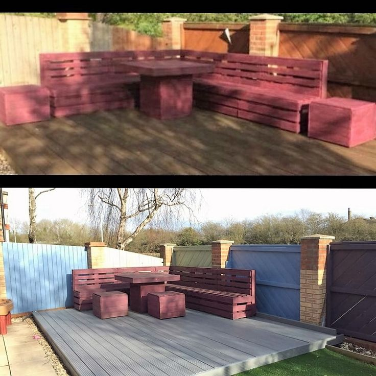 Finally!!! Absolutely loving my furniture in its newly painted garden!!! Mel Davison