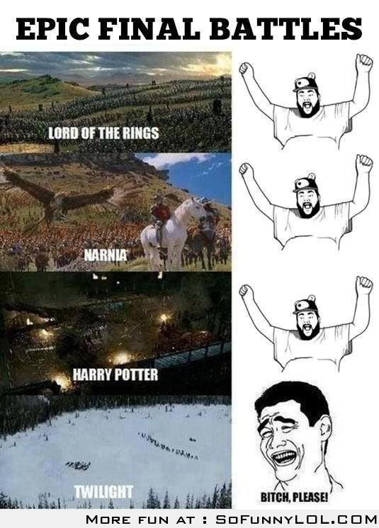 Epic Final Battles – LOTR, Harry Potter, Narnia VS Twilight