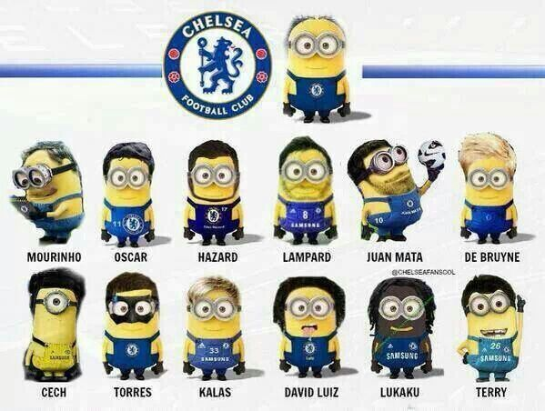 Minions as Chelsea soccer players!