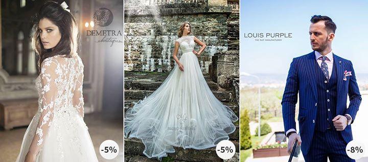 Te pregătești pentru una dintre cele mai importante zile din viață - ziua nunții tale?  Atunci cu siguranță ca mireasă vei dori să porți o rochie fină și prețioasă care să se potrivească siluetei tale! La Demetra Boutique și Maya Fashion Cluj Napoca vei găsi rochia perfectă îndrumată fiind de consilieri cu experiență! Cu beneficiezi de 5% discount atât la rochia aleasă cât și la accesorii. Mirele de asemenea nu este de neglijat așadar la Louis Purple RO va găsi costumul menit să-i…