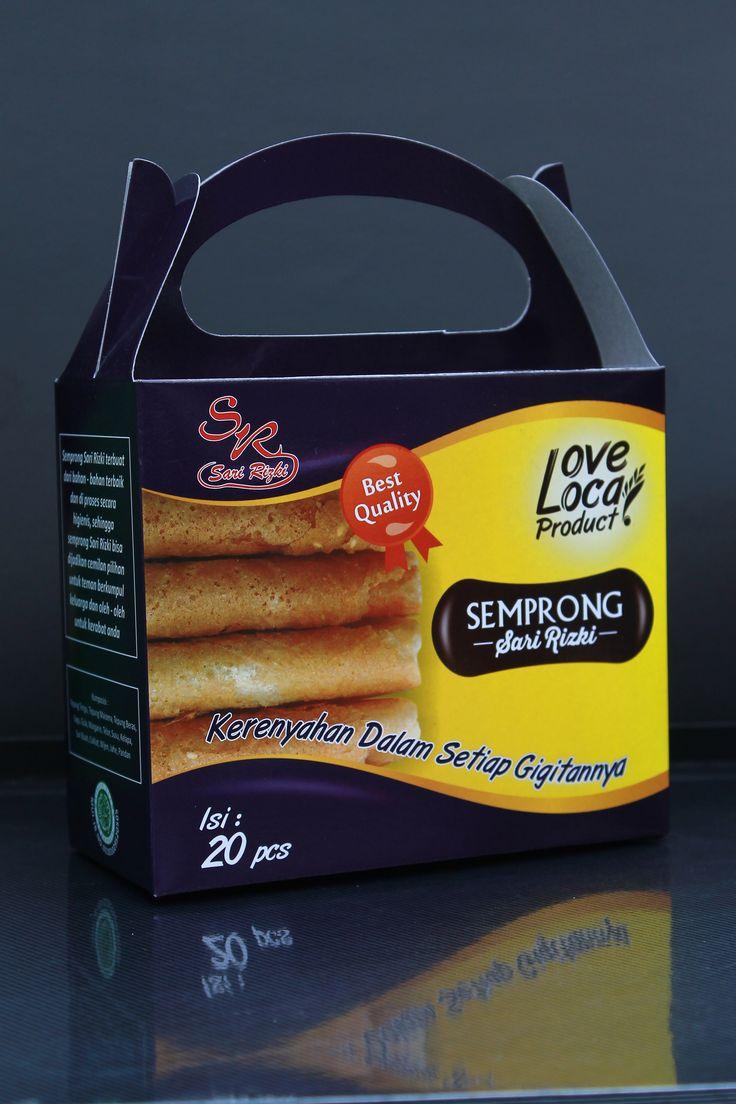 Kemasan jingjing Sekunder Semprong Sari Rizki Duplex 310 gr laminasi glosi #packaging #Identity #concept #Branding #food #chpis #product