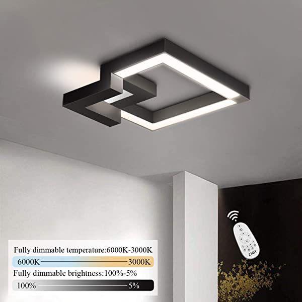 Zmh Led Deckenleuchte Wohnzimmer Modern Dimmbar Fernbedienung Farbewechsel Stufenlos Warmweiss Neutr In 2020 Deckenlampe Flur Deckenleuchten Deckenleuchte Wohnzimmer