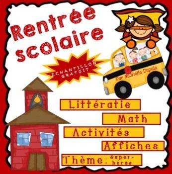 GRATUIT - GRATUIT - LA RENTRÉE SCOLAIRE
