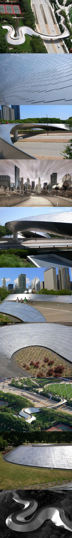 Frank Gehry BP Bridge, Millennium Park, Chicago. Visit the slowottawa.ca boards >> http://www.pinterest.com/slowottawa/