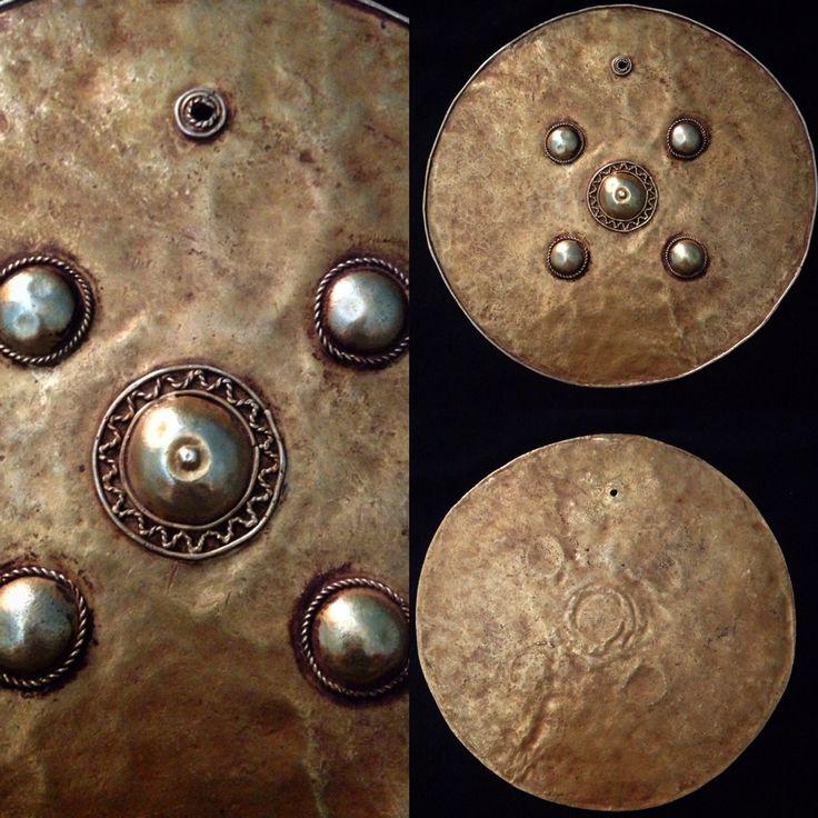 Pectoral discs (emas bulan) gold material from timor indonesia.