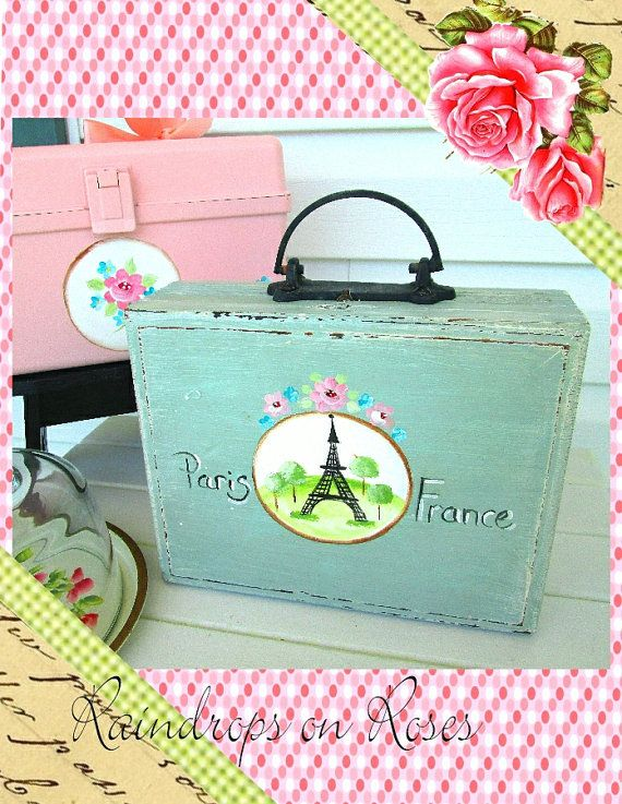 Purse Shabby Chic Cigar Box Purse Wooden Box by raindropsonroses