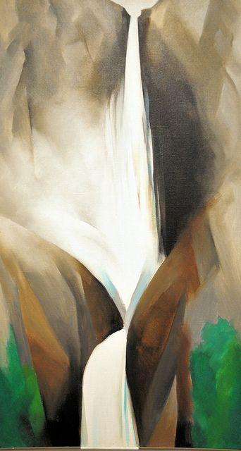 Georgia O'Keeffe - Waterfall I 1952