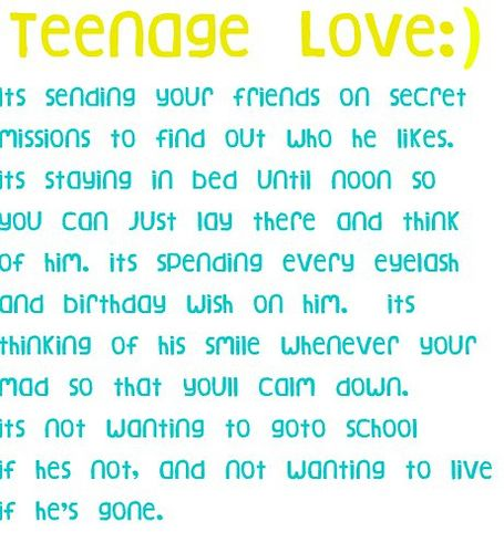 Funny Teenage Quotes About Love : best Teenage Love Quotes on Pinterest Teenage love, Teenager quotes ...