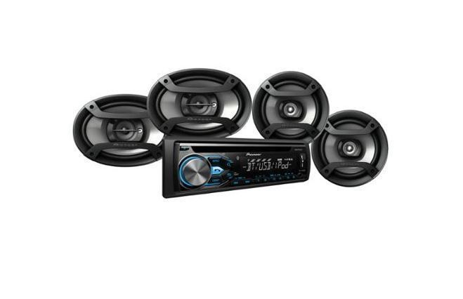 "Pioneer Bluetooth CD Car Truck Stereo Receiver with 6x9"" & 6.5"" Speakers Remote #Pioneer"