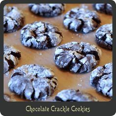 Best 25+ Chocolate crackle cookies ideas on Pinterest ...