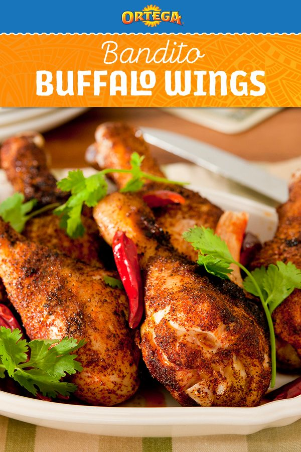 You are just 2 ingredients away from making these Bandito Buffalo Wings. Ortega Taco Seasoning acts as a rub for these baked wings—just toss the wings, bake, and serve! Could holiday or game day apps be any easier?