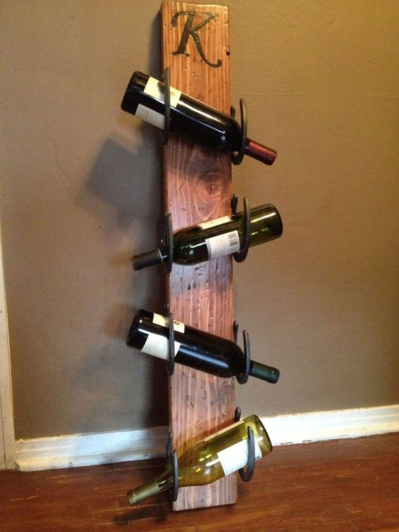 tall horseshoe wine rack