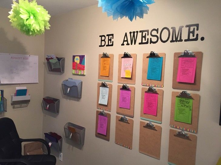 direct_sales_hostess_coaching_wall  -- IF I had a free wall! I use pocket files in a binder, but this looks attractive.