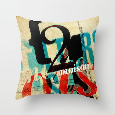 LIFE IS A COMA V3 Throw Pillow by BerkKIZILAY - $20.00