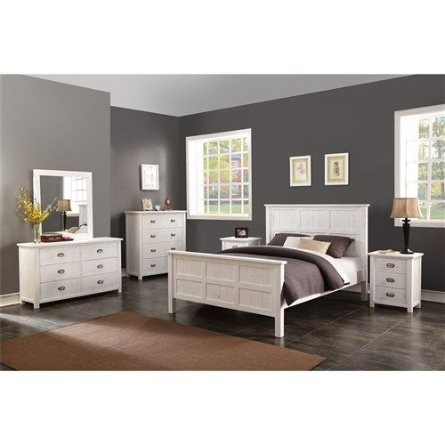 Abby – King Bed, 2 x 3 Drawer Bedside Tables, 6 Drawer Dresser & Mirror – White Wash. For more information Please take a moment to visit our website : http://www.furniture2you.com.au/