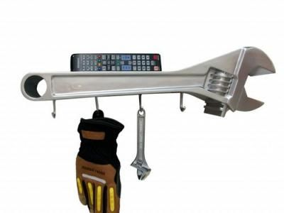 Monkey Wrench / Coat Rack - Great gift ideas for mechanic or handyman or any dad that likes his garage and his tools. Make a great Father's Day gift.