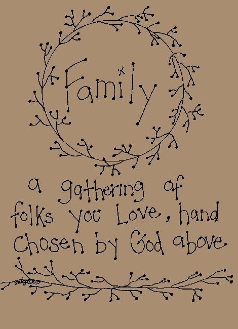 Primitive Patterns  - Samplers and Sayings - Family ...
