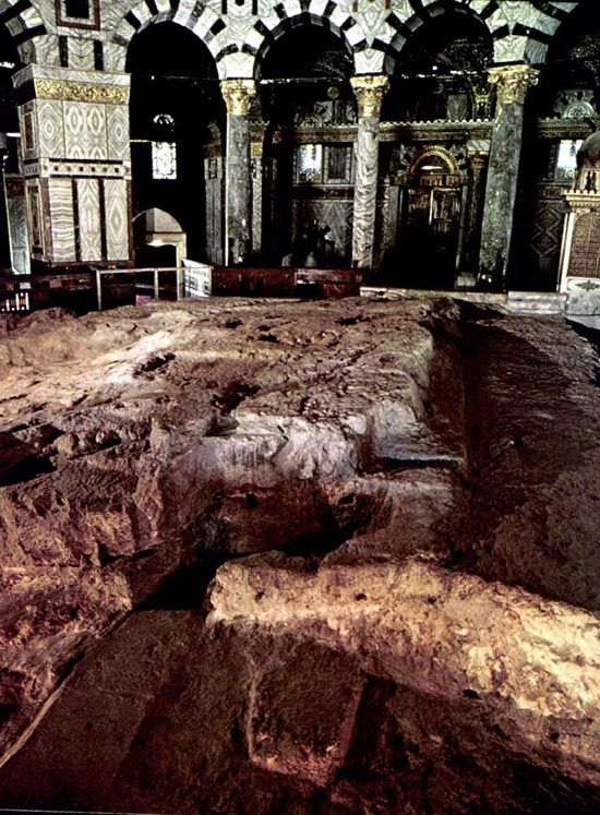 """Dome of Rock is also known as Kubbat as-Sakhra, Kubbet es Sakhra, """"Mosque of Omar,"""" Qubbet el-Sakhra, Templum Domini, that is the oldest extant Islamic monument can be seen from all over Jerusalem."""