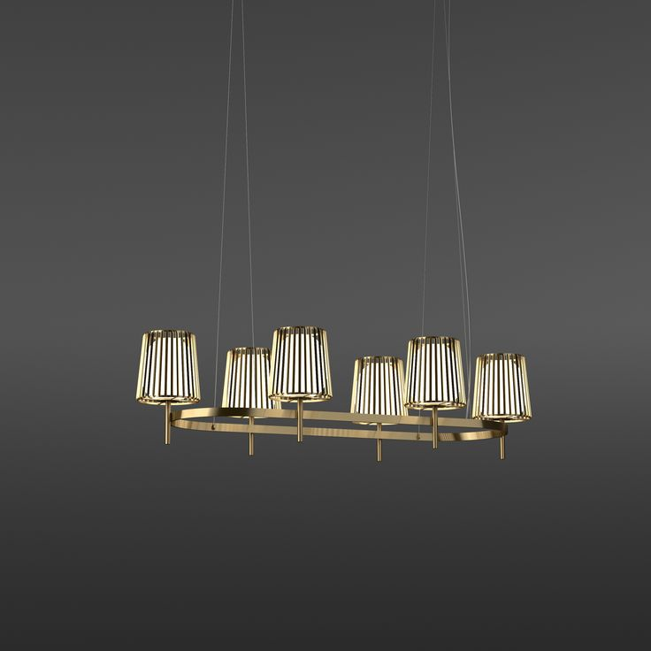 Julia suspension oval, shade metal and glas, #quasar, #danielbecker