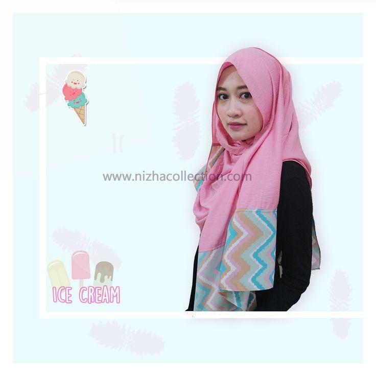 #scarf #pasmina #pasminakombinasi #icecream #shawl #hijabchic #hijabstyle #hijabers #muslim #jilbab #muslimah