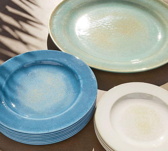 Reactive Glaze Melamine Dinnerware, Set of 4 - Stone