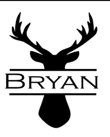 Mens personalized deer yeti cup decal