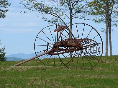 Old Farms for Sale | Old hay rakes are one of his favorite pieces of farm equipment and he ...