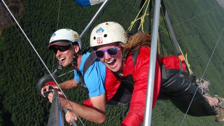 Get the Coronet Peak Tandems Hang gliding smile :-)
