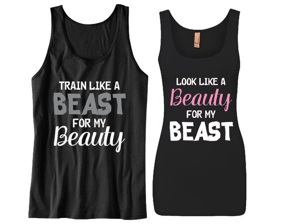 Couples Matching Tanks Train Like a Beast for by TeezCustomizer