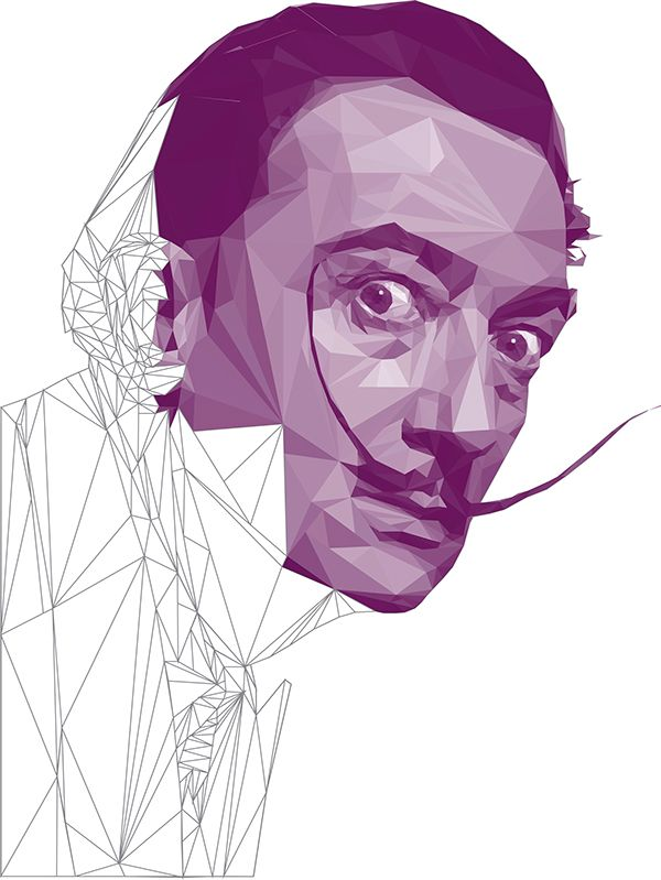 Low Poly Portraits: Artists on Behance