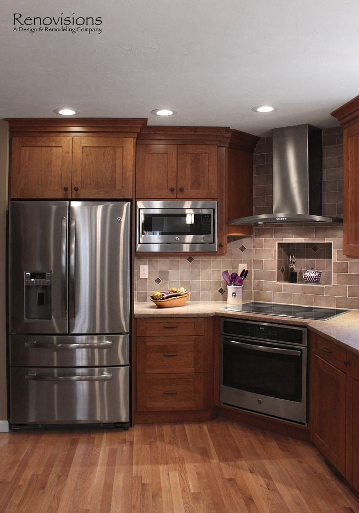 25 best ideas about cherry cabinets on pinterest cherry for Ceramic tile under kitchen cabinets