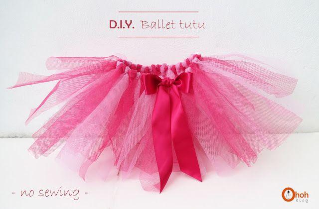 DIY Ballet Tutu, no sewing