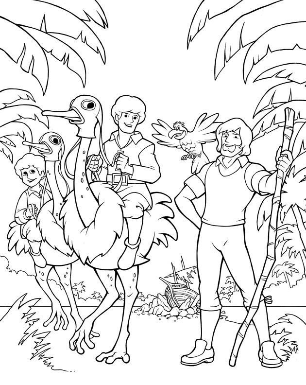 Swiss Family Robinson Coloring Page Robinson Crusoe And Swiss Coloring Pages Swiss Family Robinson Camping Coloring Pages