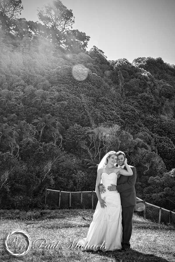Wedding couple at Zealandia. New Zealand #wedding #photography. PaulMichaels of Wellington www.paulmichaels.co.nz