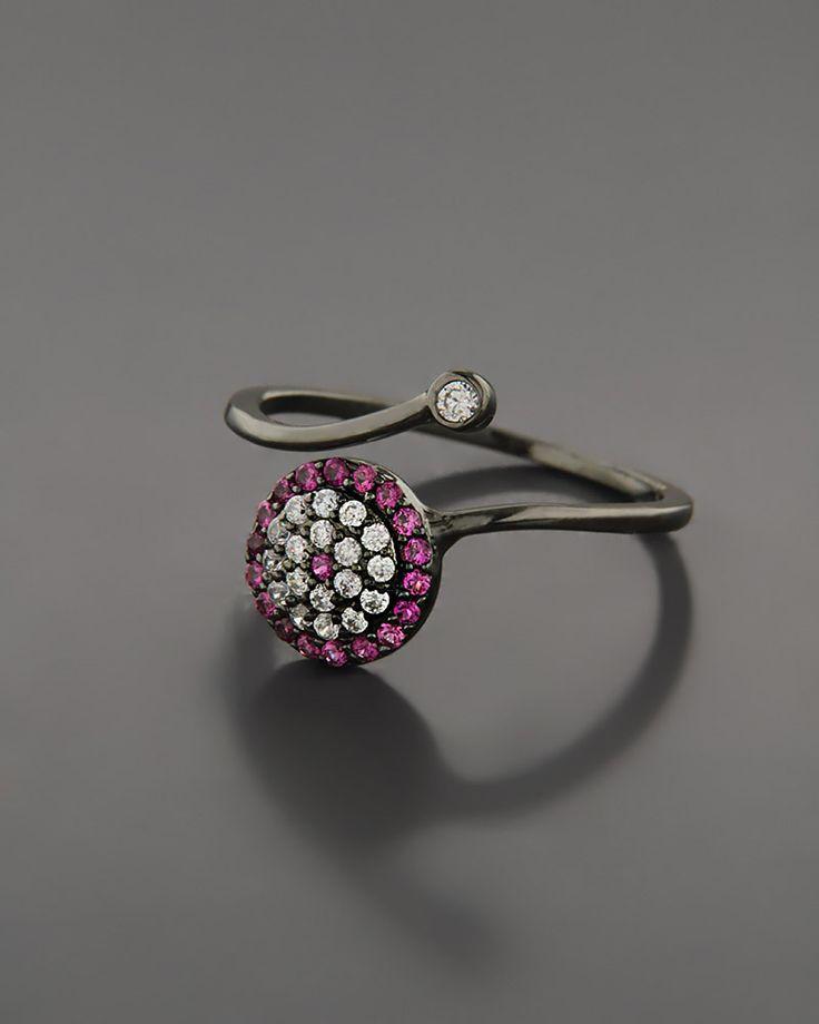 Δαχτυλίδι ματάκι ασημένιο 925 με Ζιργκόν