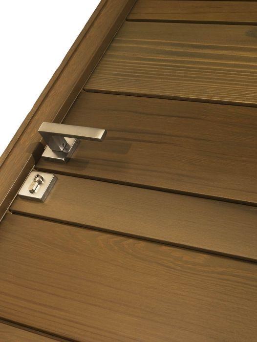 Porte d'entrée battante / en bois massif / acoustique - NATIV1 - ZILTEN