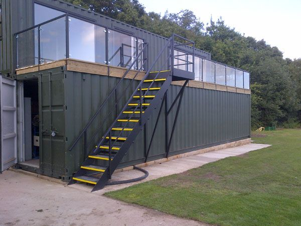Three Shipping Containers Were Used To Create This School Building One For Storage Of School
