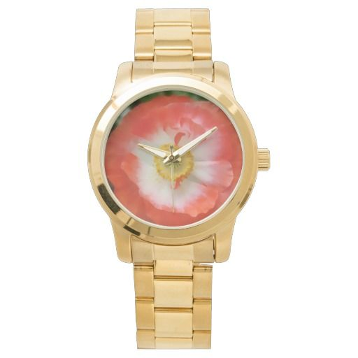 Red Poppy to remember peace wrist watch