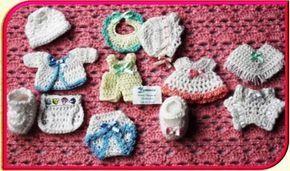6 recuerdos para bautizos tejidos a crochet de la mano de Patty Hübner