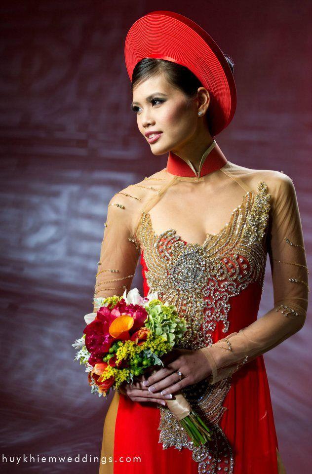 Kaylen Dao_Red Ao Dai Vietnamese wedding dress