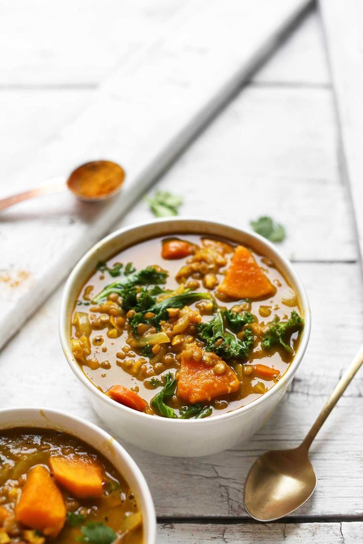 DELICIOUS 1-Pot Curried Lentil + Vegetable Soup! Easy, hearty, SO healthy! #vegan #glutenfree #curry #soup #recipe