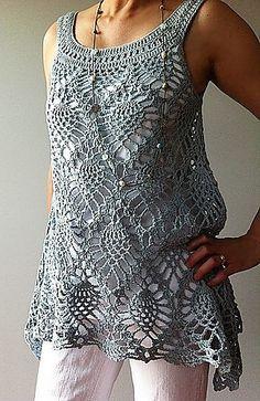 Ravelry: Jordan - sleeveless pineapple top crochet pattern by Vicky Chan☂ᙓᖇᗴᔕᗩ ᖇᙓᔕ☂ᙓᘐᘎᓮ http://www.pinterest.com/teretegui