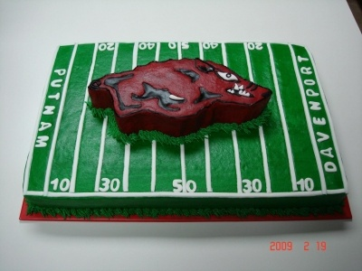 Razorback Cake By cakebakinggals on CakeCentral.com