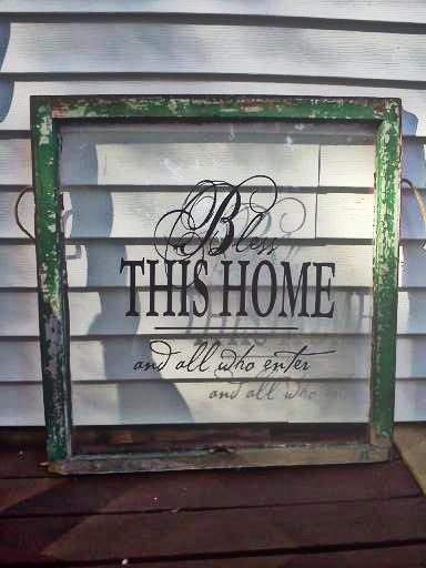 old window redo for my porch #reclaimed #oldwindow #frontporchdecor