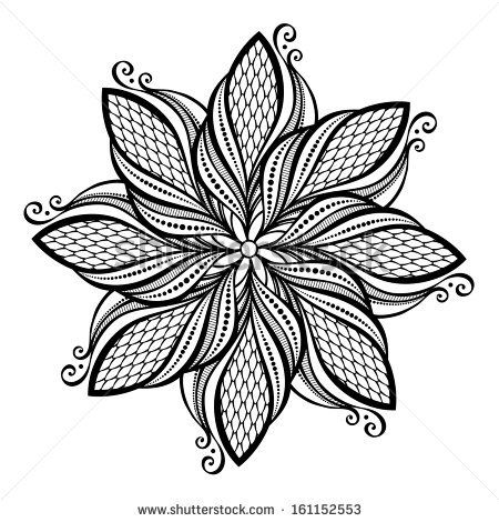 Design for lotus flower mandala