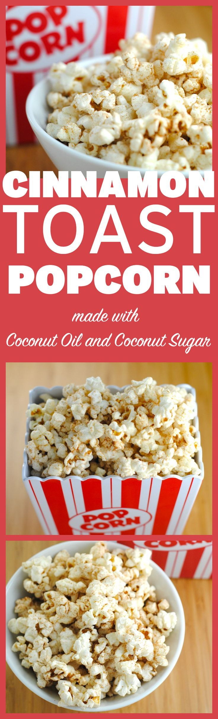 Cinnamon Toast Popcorn is given a health-boost with coconut oil and coconut sugar!   http://theblenderist.com/cinnamon-toast-popcorn/