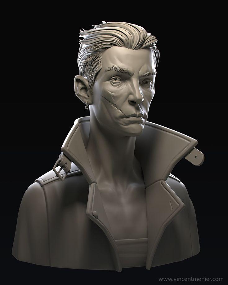 ArtStation - Howler bust, Vincent Ménier