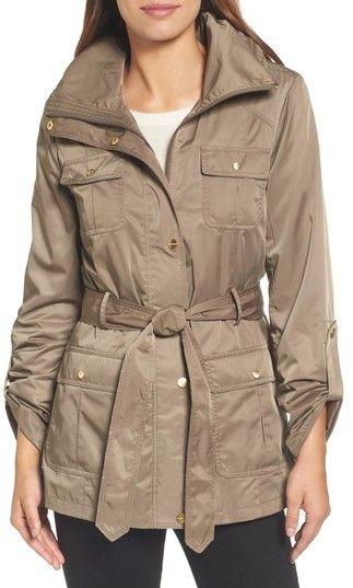 Ellen Tracy Women's Techno Short Trench Coat